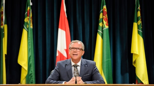 Saskatchewan Premier Brad Wall announces he is retiring from politics during a press conference in Regina on Thursday. The positions of premier and opposition leader now are both up for grabs.