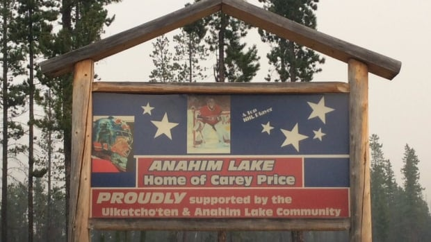 Anahim Lake is the home of hockey star Carey Price. This photo shared on August 9 showed smoke from wildfires blanketing the remote community.