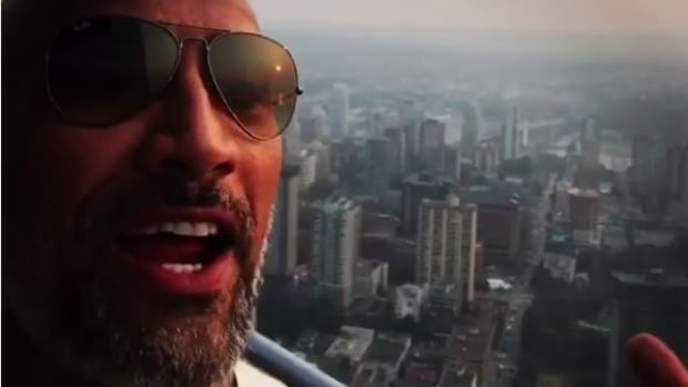 "Dwayne ""The Rock"" Johnson posted an Instagram video in Vancouver this week."
