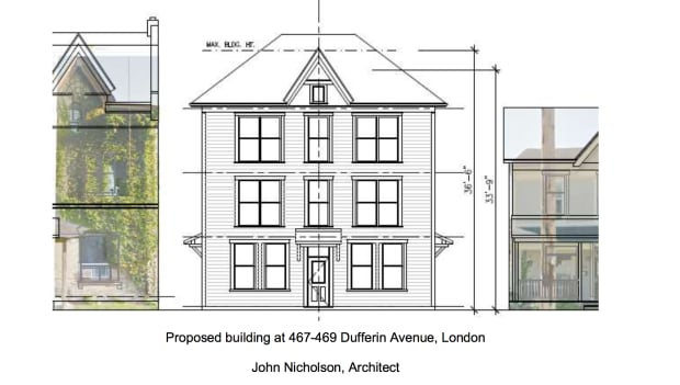 Plans for Dufferin Ave