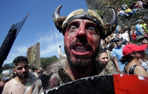 SPAIN Viking festival of Catoira