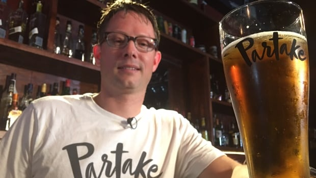 Engineer-turned-entrepreneur Ted Fleming pours us a glass of new non-alcoholic beer that he promises really does taste like beer.