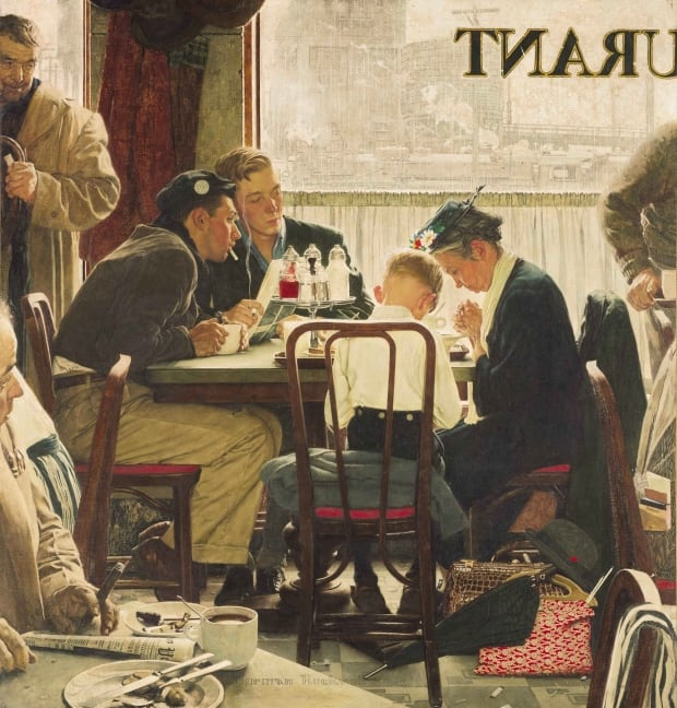Saying Grace, by Norman Rockwell