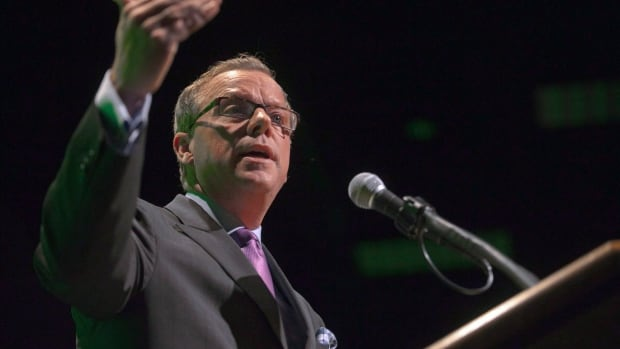 Premier Brad Wall addresses the Saskatchewan Chamber of Commerce in October 2012.