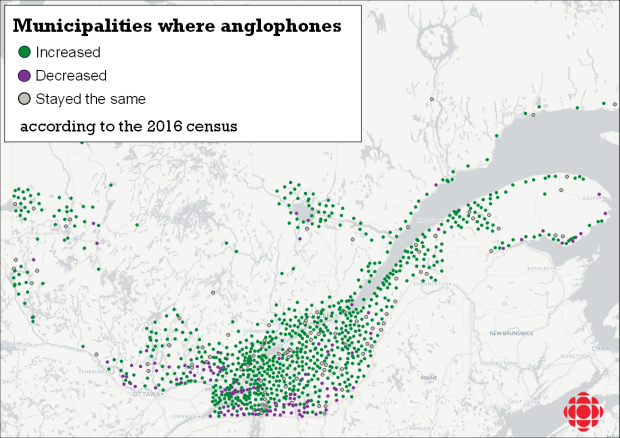 anglophone growth census 2016 Quebec