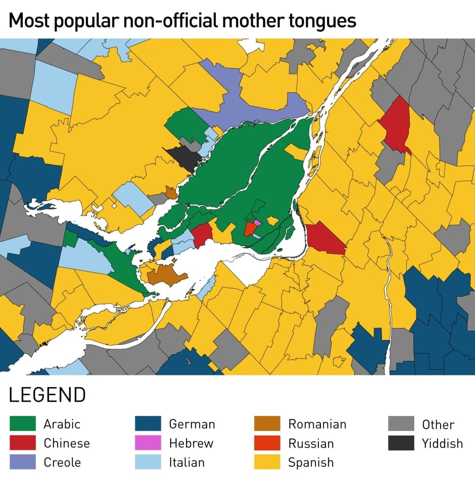 most popular non-official languages montreal