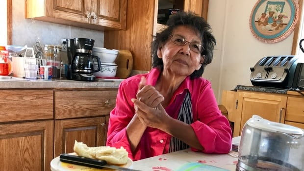 Murial Betsina, 73, at her home in N'dilo, N.W.T., remembers being hungry every single day of the nine years she spent in residential school.
