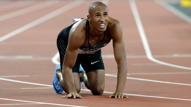Despite suffering from the norovirus, Canadian and decathlete Damian Warner remains in medal contention.