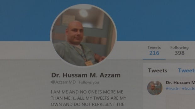twitter page hussam azzam