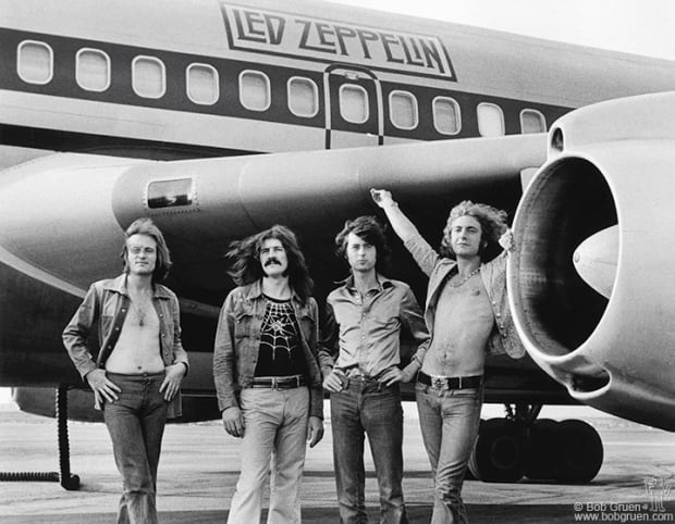 ONE TIME USE ONLY Bob Gruen Led Zeppelin & Jones, John Paul & Bonham, John & Page, Jimmy & P