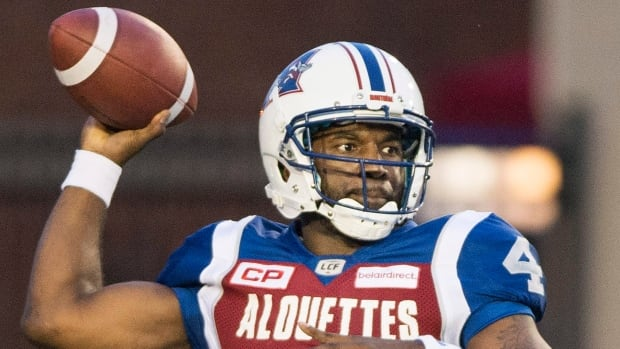 Darian Durant throws for 237 yards and two touchdowns in the Montreal Alouettes' 21-9 victory over the Toronto Argonauts on Friday evening.