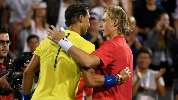 Wednesday wasn't the first time Denis Shapovalov and Rafael Nadal took a photo together. The first time was nine years ago, when Shapovalov was considerably shorter.