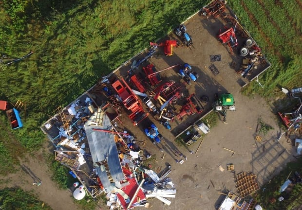hawkesville tornado drone damage