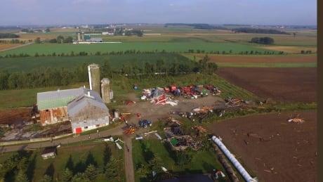 hawkesville tornado drone damage 3