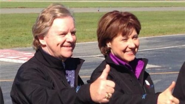 Gordon Wilson in a photo op with then-premier Christy Clark. The photo was taken at Vancouver Airport in 2013, the same year Clark appointed Wilson to the LNG position.