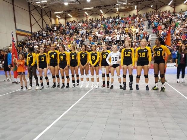 Team Manitoba volleyball win