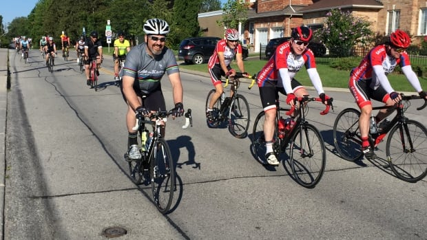 Dozens of cyclists gathered in Markham Sunday for the 16th annual Ride for Karen.