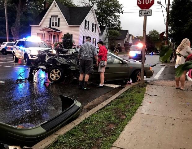 Car crash Truro