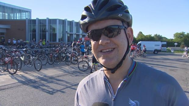 Cyclist Ian Muggridge