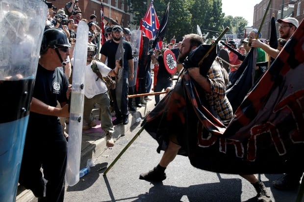 Murder charge after auto hits counter-demo crowd at white supremacist rally