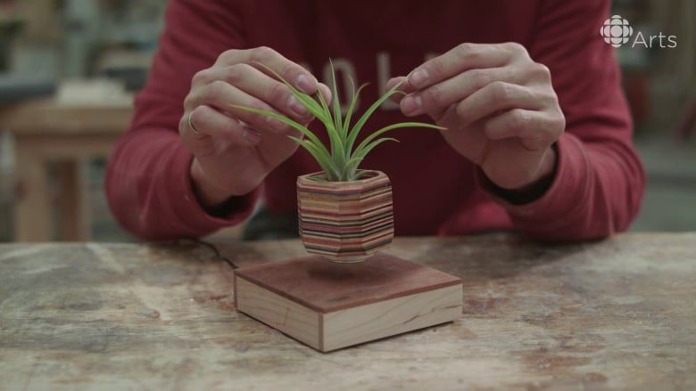 (CBC Arts) & How to make a mysteriously floating flower pot out of skateboards ...