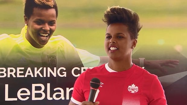 The field at Merkley Park in Maple Ridge is being renamed Karina LeBlanc Field in honour of the former Canadian soccer star.
