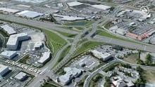 Diverging diamond road interchange in Calgary is Canada's first