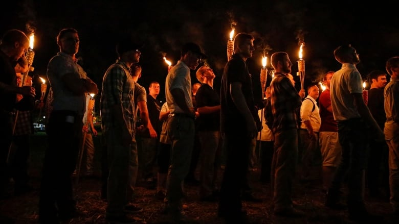 Confederate Monument Protest Tiki Torches