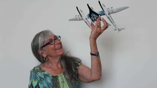 Judy Anderson has put a down payment on a ride in Virgin Galactic's SpaceShipTwo.