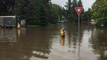 Avalon flooding Saskatoon