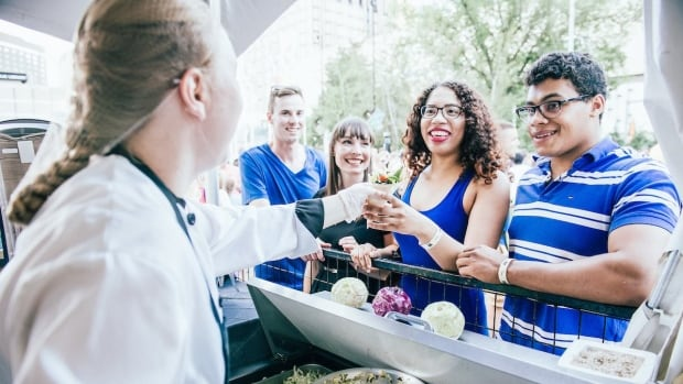 The annual food festival attracts roughly 400,000 people to Edmonton's downtown core each summer.
