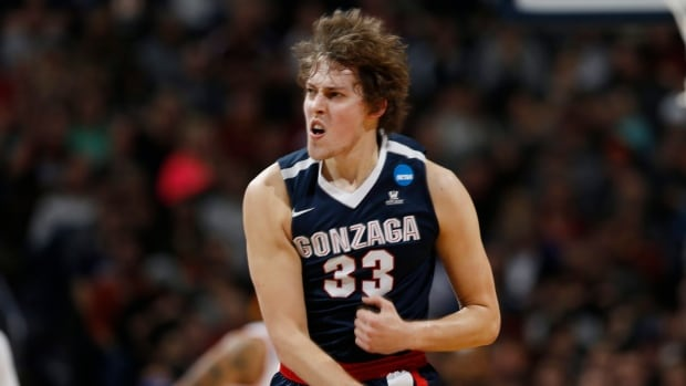 Kyle Wiltjer, seen above in action for Gonzaga, appeared in 14 games for the Houston Rockets last season.