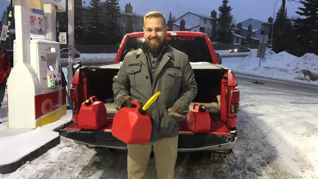 MLA Derek Fildebrandt posted this photograph on Twitter on New Year's Eve 2016, the night before Alberta's carbon tax went into effect.