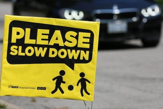 Toronto Please Slow Down Speeding Sign
