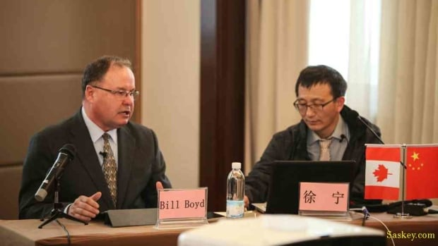 Bill Boyd says during the Beijing seminar he focused on issues related to farming and irrigation while his associate Ning Xu addressed immigration related topics.
