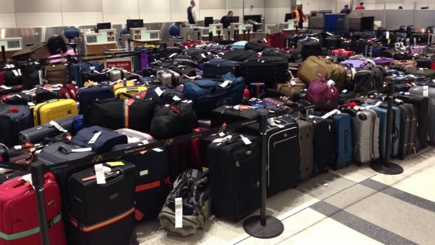 A glitch in the baggage induction system caused delays for passengers flying out of Pearson International Airport's Terminal 3.