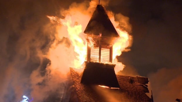 Burlington church fire