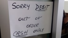 Debit out of order