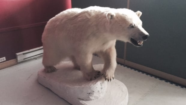 This is the polar bear Mervin Randell hopes to sell to a collector.