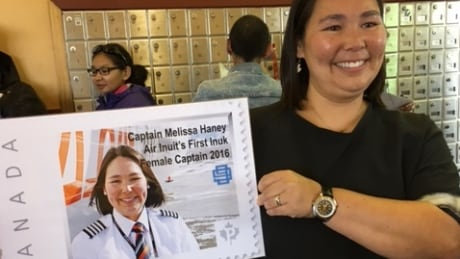 Air Inuit's 1st female Inuk captain lands commemorative stamp