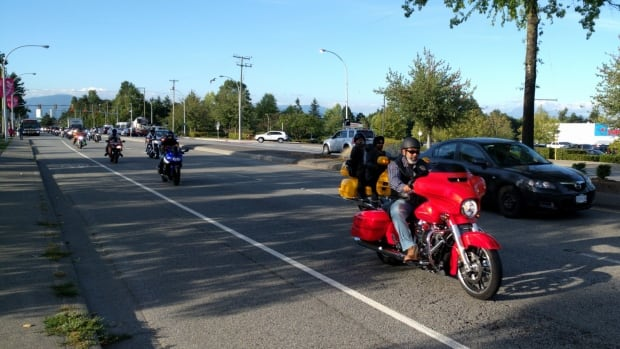 Riders with Sikh Motorcycle Club rode through Surrey Wednesday to protest crime and drugs in the community.