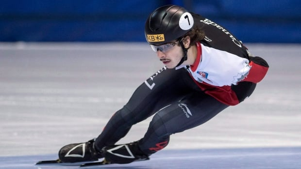 Samuel Girard, pictured here in January, is getting closer to solidifying his spot on the Canadian Olympic team after his win in the 500m at the short track selection trials.