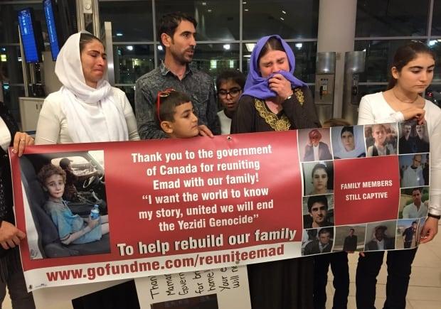 Yazidi family reunion Winnipeg