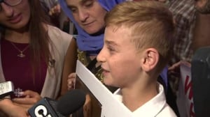 Tearful reunion as Yazidi boy arrives in Winnipeg