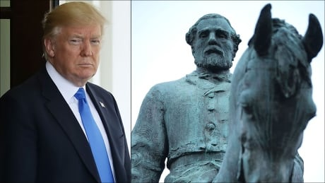 Trump defends 'history and culture' of Confederate monuments