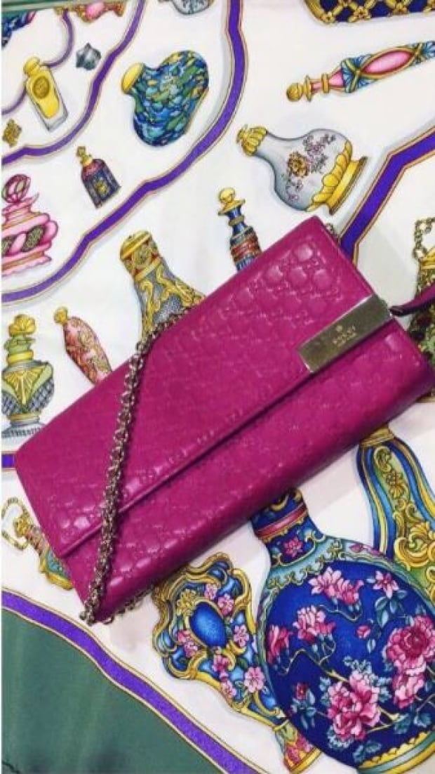 LXRandCo Gucci pink purse from Instagram