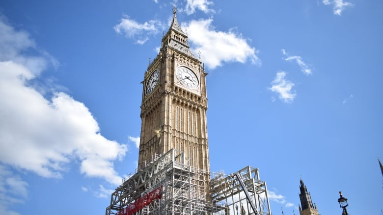 Uneasy silence the mad plan to shut down big ben cbc news scaffolding has already been erected around the tower for much of the renovations only one face of the clock will be visible nathaniel dovecbc malvernweather Images