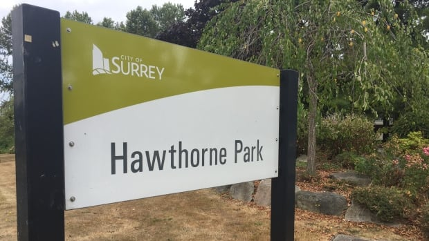 The City of Surrey is planning on building a road through the southern part of Hawthorne Park to link together the Whalley and Guildford communities.