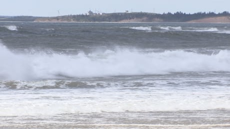 High surf at Lawrencetown Beach, Nova Scotia