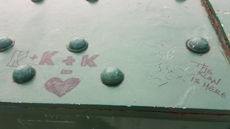 Racist graffiti at The Forks